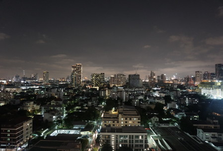 Bangkok at night from our window