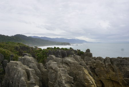 "Punakaiki ""Pancake"" Flats, a really interesting geological formation along the way."