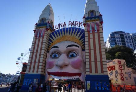 Luna Park, an old style amusement park next to the Sydney Harbour