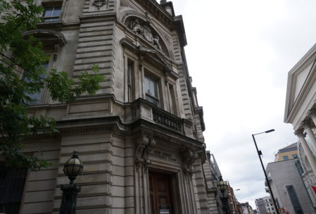 The old magistrates court building where many people were tried, including Oscar Wilde.