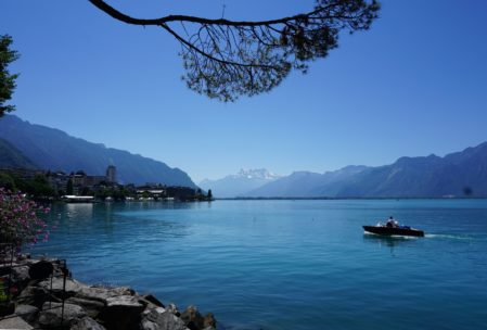 the lakeshore at Montreux