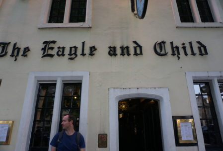 or the Eagle and Child, for that matter. It's an average Oxford pub, made famous by the fact that CS Lewis and JRR Tolkien's writing group called The Inklings used to meet here weekly to discuss their works in progress.