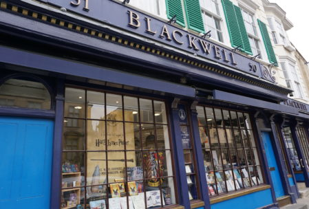 not a visit to Oxford without heading to Blackwell's Bookshop..