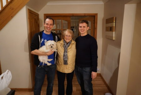 May and Stuart, our host's second son. It's not an exaggeration to say that many of these housesits came to feel like family by the end!
